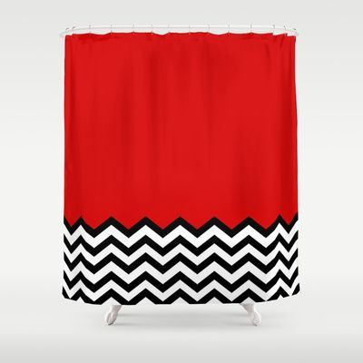 Black Lodge Dreams (Twin Peaks) Shower Curtain by Welcome To Twin Peaks - $68.00
