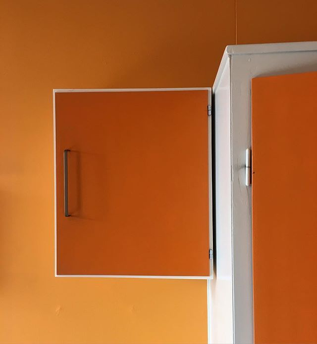 "ORANGE ""Detail, Architects Office, South Wing, 3rd floor, former State Prison Horsens. Many of the offices, cells and workshops in the old Prison have less than ordinary colours on the walls."" - via prison museum on Instagram. #MuseumRainbow"