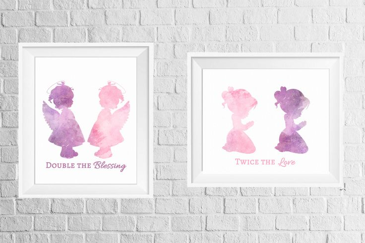 A personal favorite from my Etsy shop https://www.etsy.com/listing/554394542/twins-room-or-nursery-decor-print-set