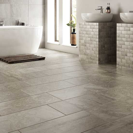 Details: Photo features Chantilly 12 x 18 wall tile with 2 x 4 brick-