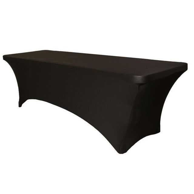 Spandex Fabric Tablecloth White Black Rectangular Spandex Table Covers S M Size Available Home Textiles