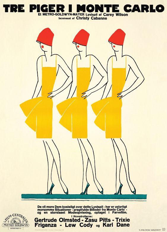 Tre Piger I Monte Carlo (1927) Kunstner: Sven Brasch