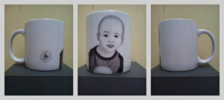 pointilis painting mug #farel #2