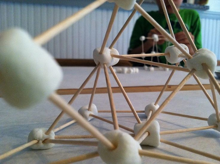 open ended building with toothpicks and marshmallows