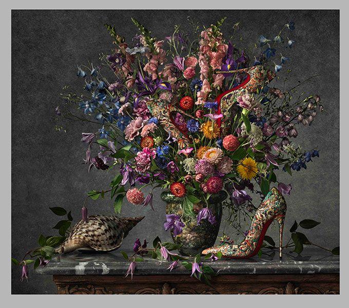 クリスチャン ルブタンがゴッホの『ひまわり』とコラボ!? 2014年春夏コレクションを発表 | ニュース - ファッションプレス