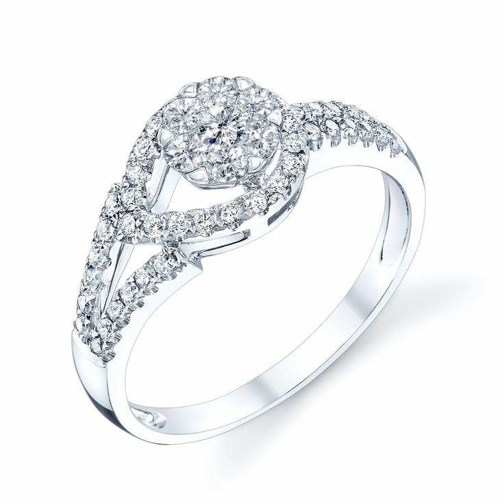 Coronet Diamonds Bahlam Ring in 14k White Gold. #diamonds #rings #commitment