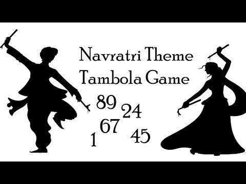 Navratri Theme Kitty Party Tambola Game - YouTube