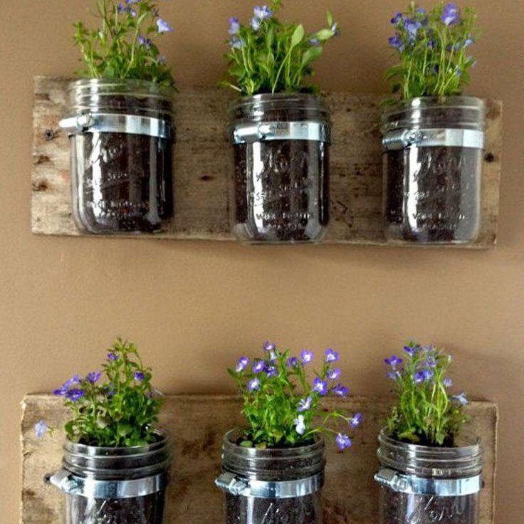 30 modern and elegant vertical wall planter pots ideas on indoor herb garden diy wall mason jars id=37274