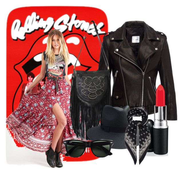 """""""Rock n roll boho"""" by neongypsynz on Polyvore featuring Ray-Ban and Yves Saint Laurent"""