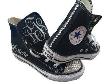 Zapatillas Converse de superior alta + personalización/Bling