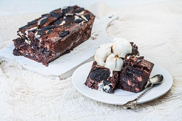 Brownies με μπισκότο