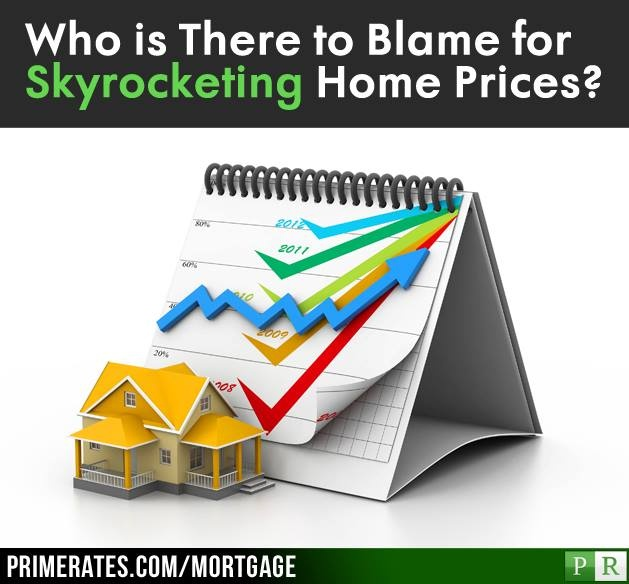 """ARE YOU TO BLAME FOR SKYROCKETING HOMEPRICES?  #Homeprices are rising. Is it your fault?. I say """"fault"""" because a recent report by Bloomberg Business Week found that #house prices these days are """"on fire."""" They have made the largest 12-month gain since 2006. Prices are up almost 11% from March of last year.  Article: http://www.primerates.com/2013/06/18/mortgage/are-you-to-blame-for-skyrocketing-home-prices.html"""