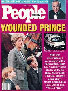 JUNE 1991 When William, nearly 9, is rushed to the hospital after being accidentally