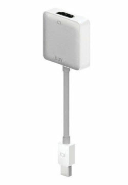 iLuv ICB703 White Mini DisplayPort to HDMI Adapter Connect Mac to HDMI #iLuv