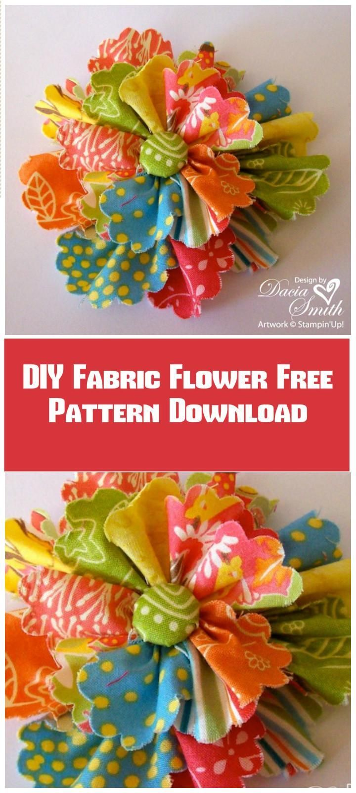 25+ Best Ideas About Fabric Flower Tutorial On Pinterest
