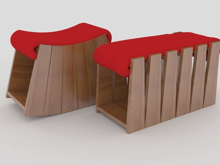 Unique Bench that can Transformed Into A Rocking Bench - Armadillo