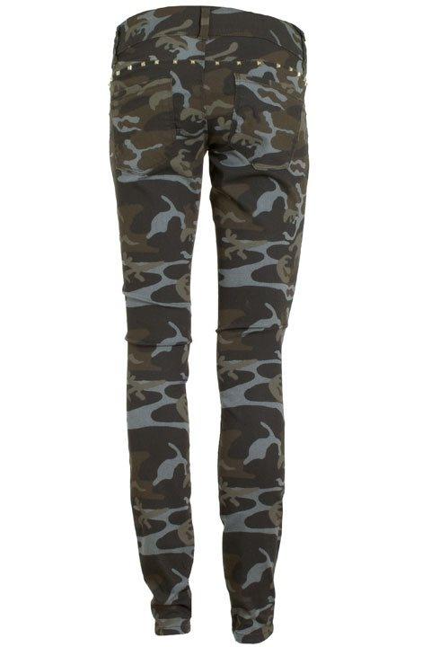 Skinny Low Lena Camouflage Pant 15075837 Only Broeken