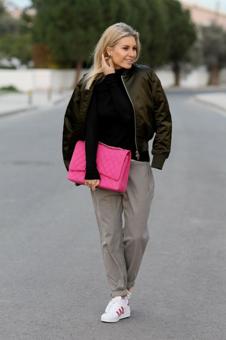 Jacket/Acne Pants/Zara Sweater/Designers Remix Earrings/Anton Heunis Shoes/Adidas Original (NYC buying) Bag/Chanel