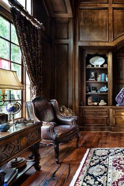 English Traditional   Traditional   Home Office   JAUREGUI Architecture  Interiors Construction