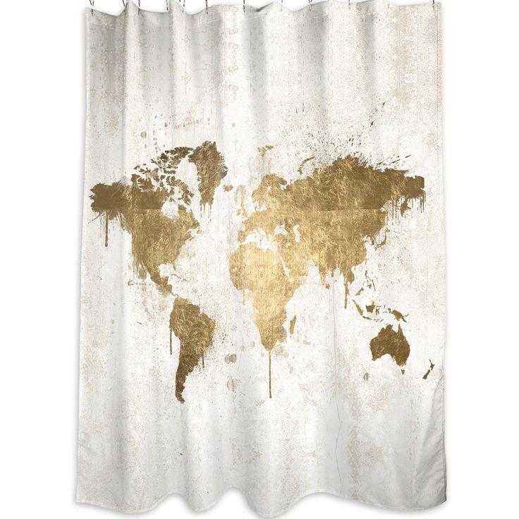 Oliver Gal Oliver Gal Home Mapamundi Shower Curtain | AllModern