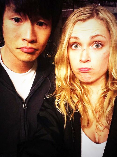 Christopher Larkin and Eliza Taylor The 100