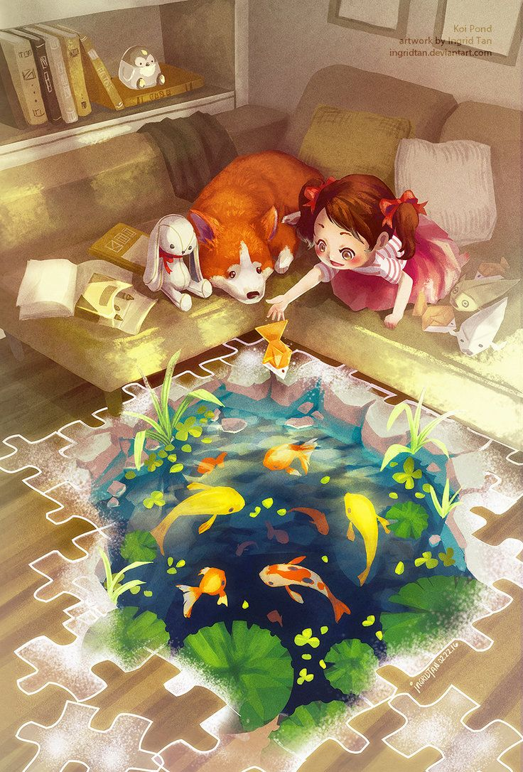 Puzzles of Imagination: Koi Pond by IngridTan on DeviantArt