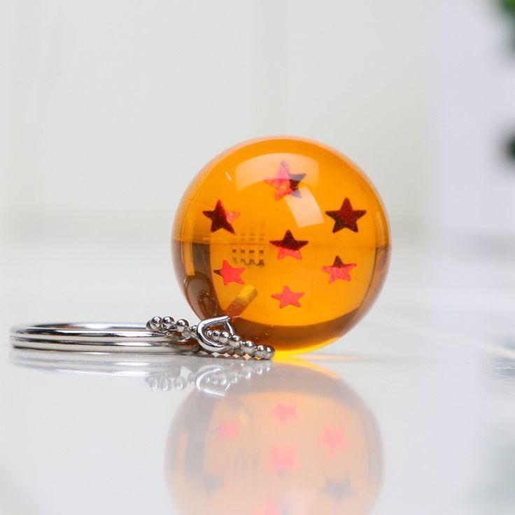 Porte-clés Dragon Ball Boule de Cristal Orange à étoiles- #dbz