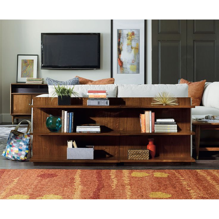 Hooker Furniture Living Room Studio Chapter Two Sofa Bookcase Console