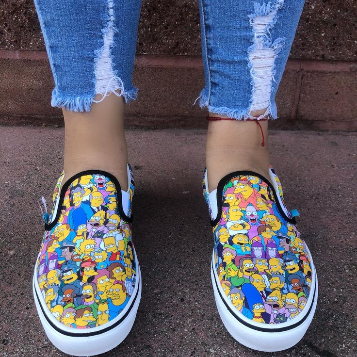 Vans The Simpsons X Vans Comfycush Slip On Shoes | Vans, Slip on ...