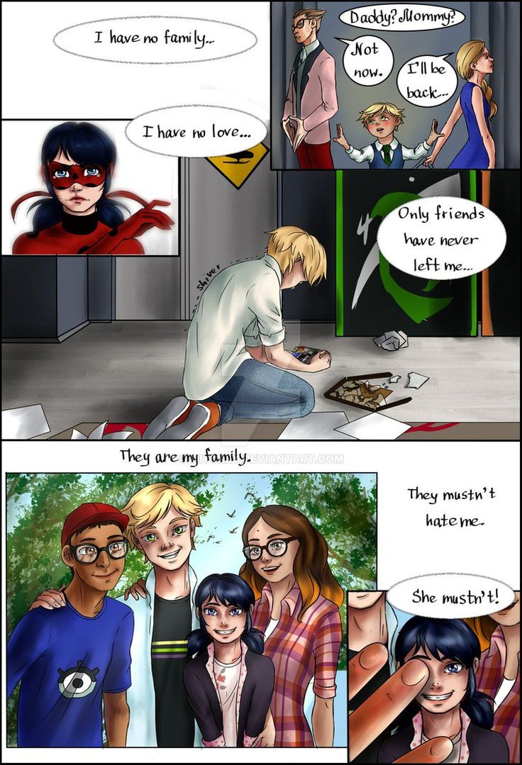 """Fan-comic """"Down"""" Chat Noir decided to reveal himself to Ladybug. But it will turn to some problems. Will everything end good?.."""