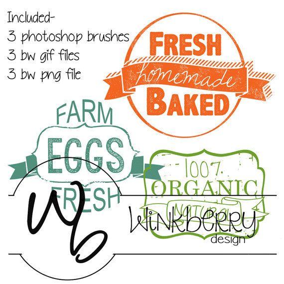 Fresh Baked Farm Eggs Organic Clip Art by WinkberryDesign on Etsy, $4.00