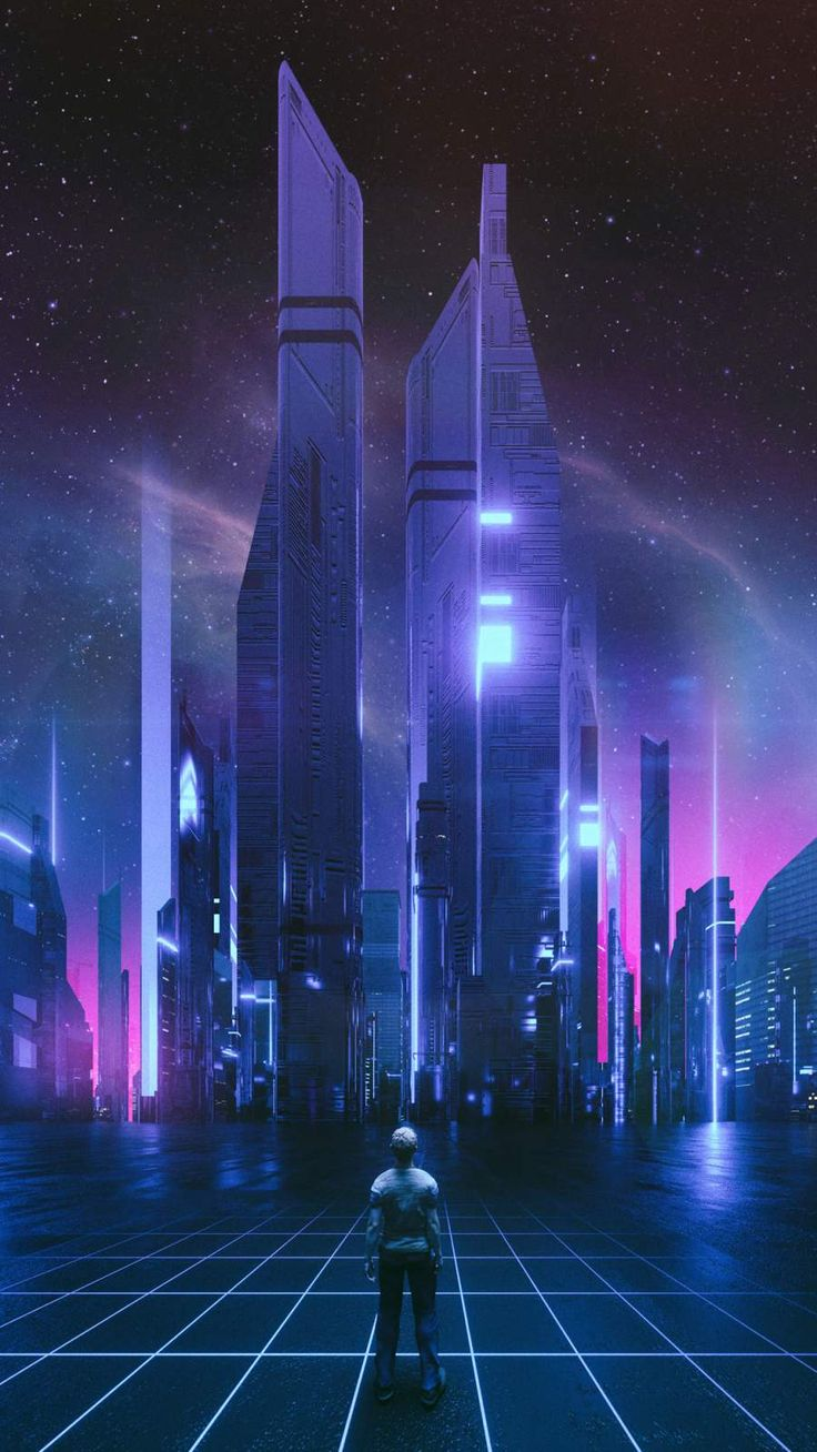 The Grid iPhone Wallpaper Futuristic, City wallpaper