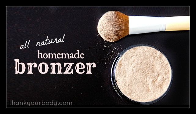 All natural bronzer. Crazy easy to make with stuff you already have in your kitchen!