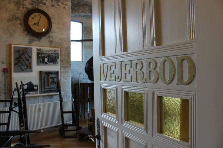 Den originale dør til vejerboden på Vejle Toldkammer.