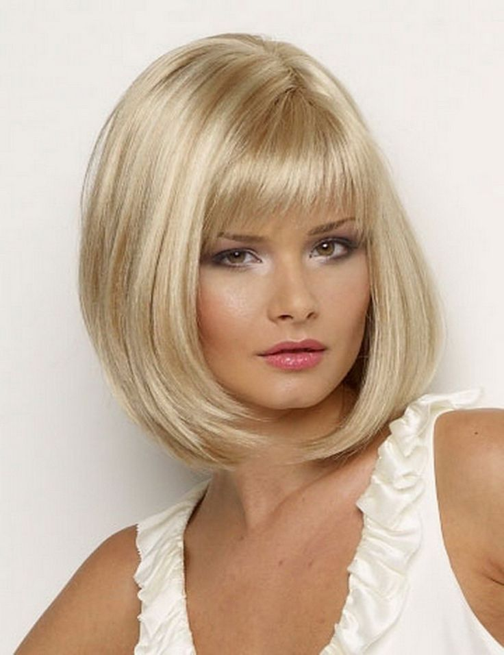 Hot Sale 35cm Synthetic Straight Bob Hair With Bangs African American Short Blonde Wig For Black Women
