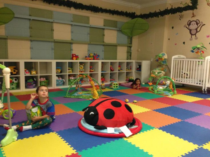 Infant and toddler room ideas for home daycare home for Activity room decoration
