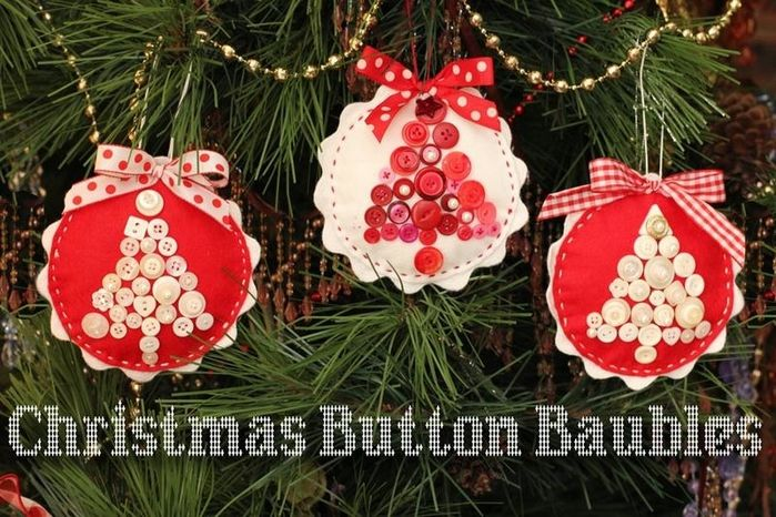 Christmas Button Baubles
