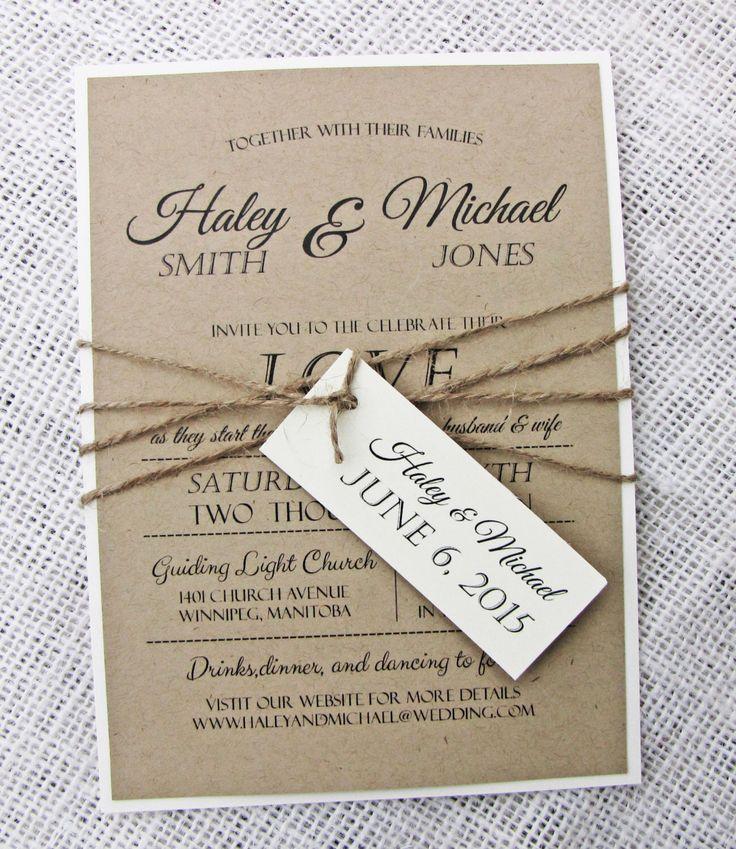 Rustic Wedding Invitation, Diy Printable, Modern, Rustic Wedding Invitation Set by LoveofCreating on Etsy https://www.etsy.com/listing/210597918/rustic-wedding-invitation-diy-printable