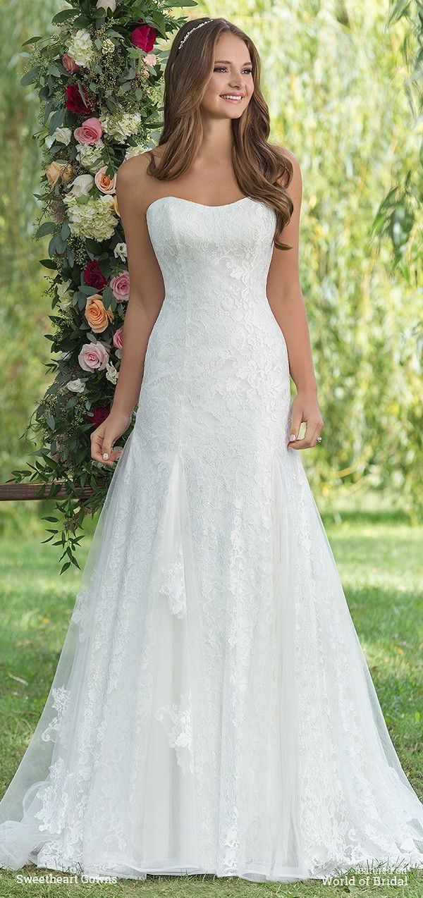 Best 25  Fall wedding gowns ideas on Pinterest | Lace long dresses ...