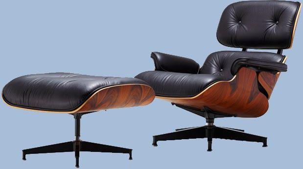 Eames Lounge Chair y otomana. ¿Porque no hacemos una versión actualizada del antiguo sillón de club inglés? Con este comentario Charles Eames comenzó a desarrollar este hermoso y confortable diseño. DisMueblesDeco: Eames Lounge Chair y otomana