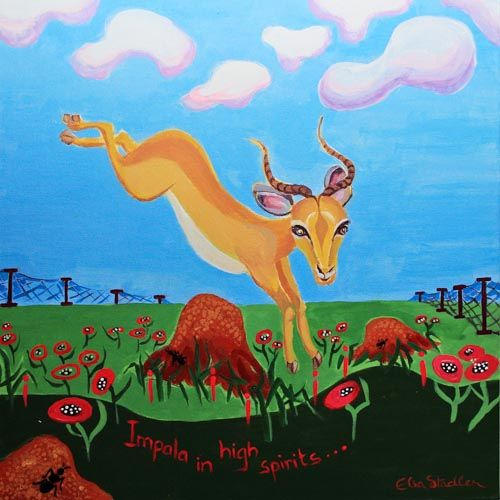 I is for Impala  'Impala in high spirits'