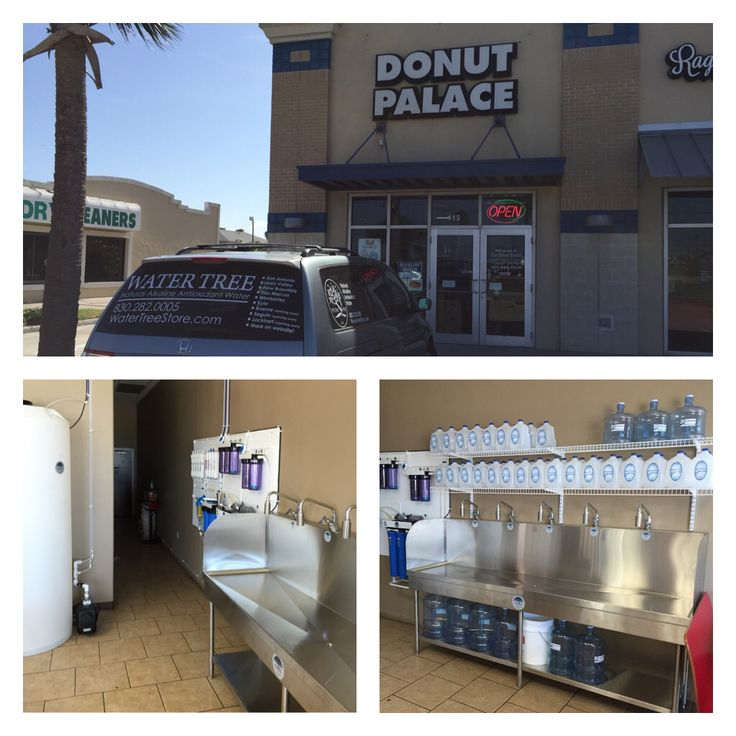 """Padre Island (Corpus Christi, TX) now has its very own Water Tree! Yes, it's in a Donut Palace...but as one customer said, """"kill 'em with a donut, save 'em with the water!"""" Haha!  Stop by and grab a gallon of the best naturally made alkaline antioxidant water around! Located at 14457 SPID, Ste 113, Corpus Christi, TX 78418."""