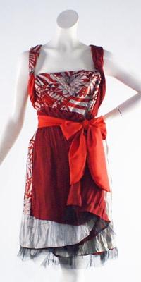 Cherry Wrap Dress - Chameleon - Online Store - Annah Stretton