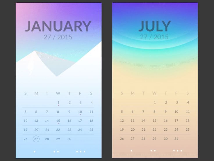hey! a bit too much color information for a gif. please check @2x for the snow.  working on a screen for each month.