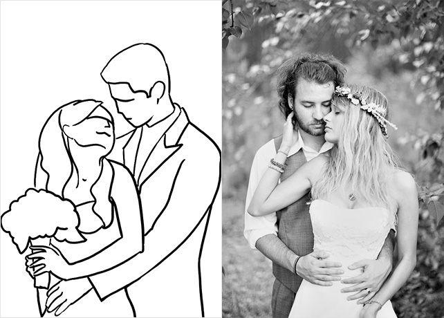 20 лучших поз для свадебной фотосессии, жених обнимает невесту сзади