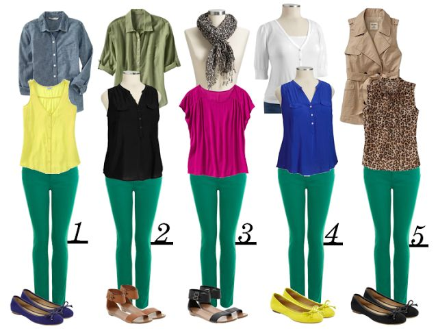 Green Jean Outfit Inspiration I DIY Fashion