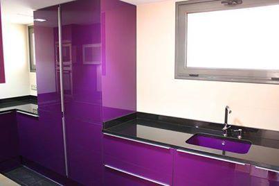 Lovely Dark Purple Kitchen Furniture