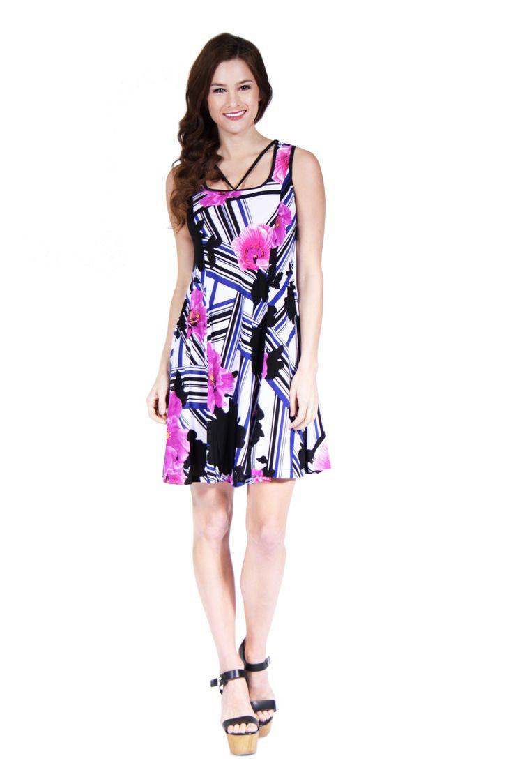 http://247comfortapparel.com/women/dresses/24-7-comfort-apparel-women-s-abstract-neckline-floral-stripe-printed-dress-12875.html