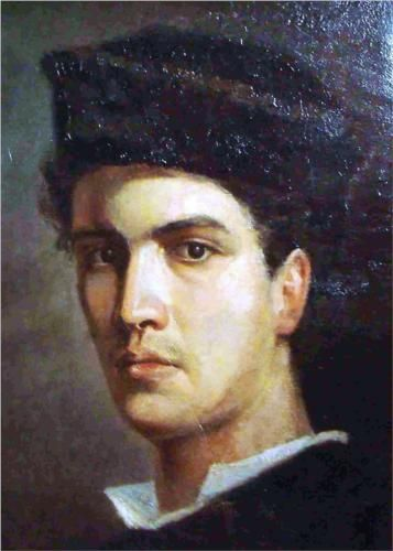 Ioannis Altamouras (1852-1878) - Self-Portrait Ioannis Altamouras (born in Florence or Naples, 1852 –  died 1878 Spetses island Greece, from tuberculosis only at the age of 26) was an outstanding Greek painter of the 19th century famous for his paintings of seascapes.
