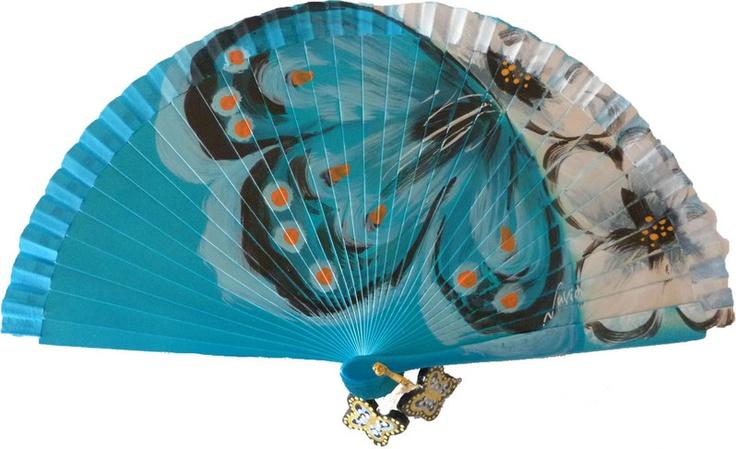 Blue Spanish fan